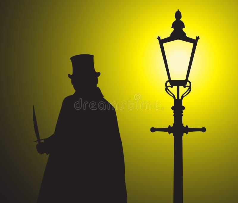Luz Grunged de Jack The Ripper In The stock de ilustración