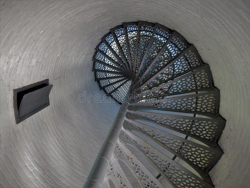 Luz interior de Kenosha Southport de la escalera espiral foto de archivo libre de regalías