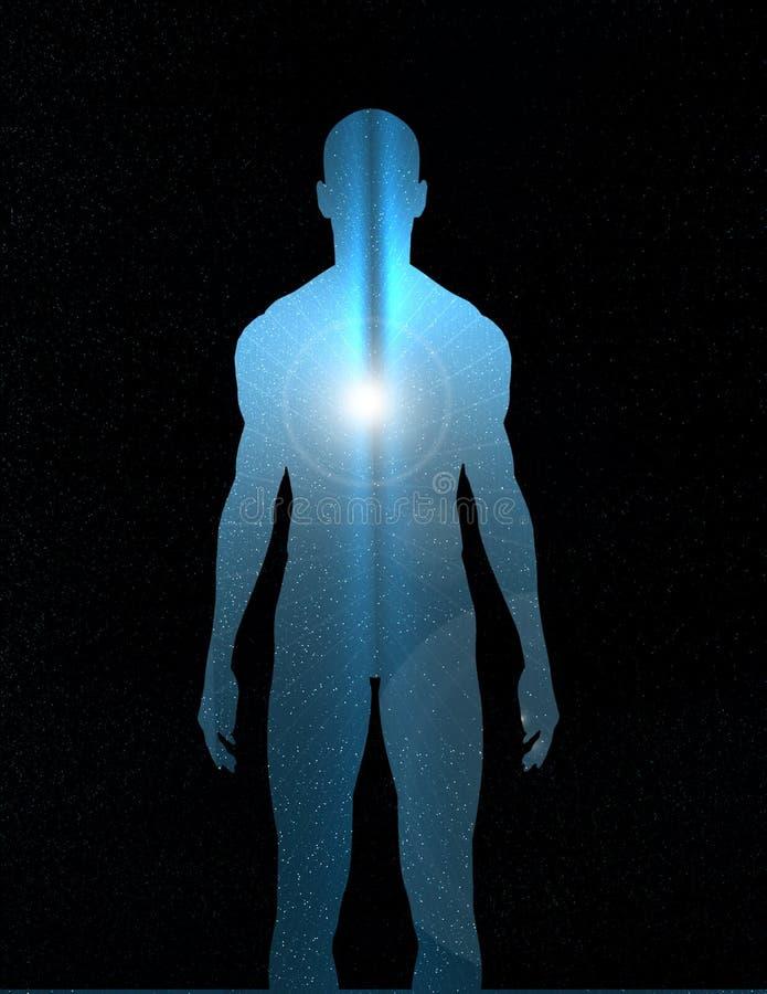 Luz interna ilustración del vector