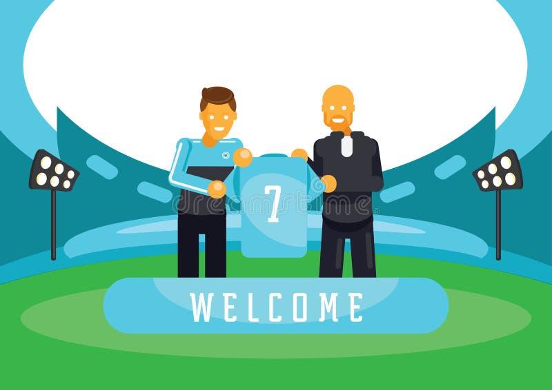 Luz - jogador novo do sinal azul da equipe ilustração royalty free