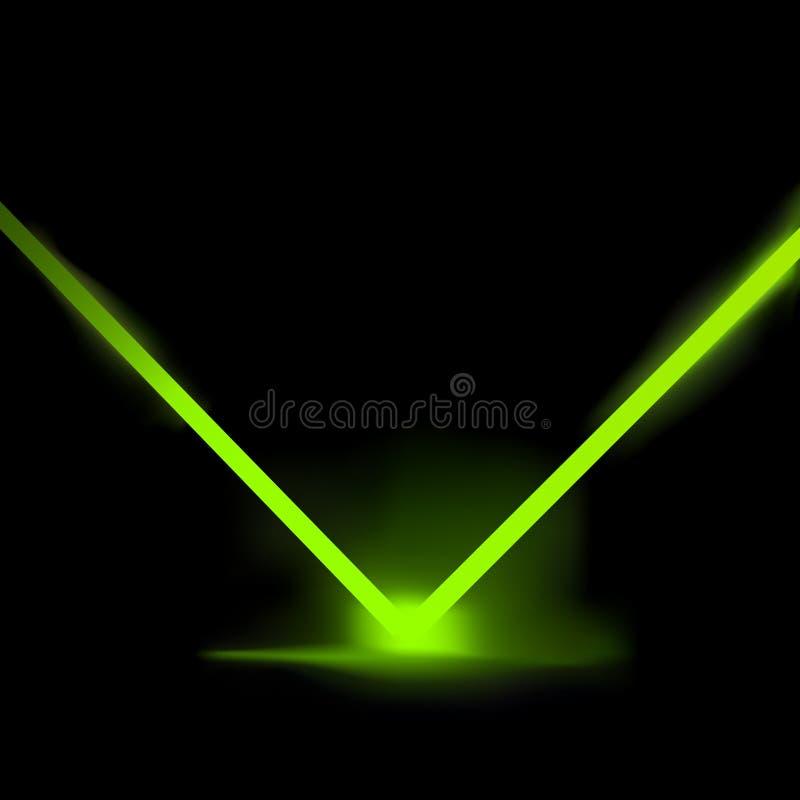 Luz laser del vector