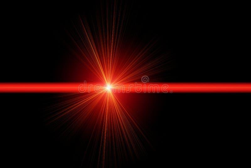Luz laser roja ilustración del vector