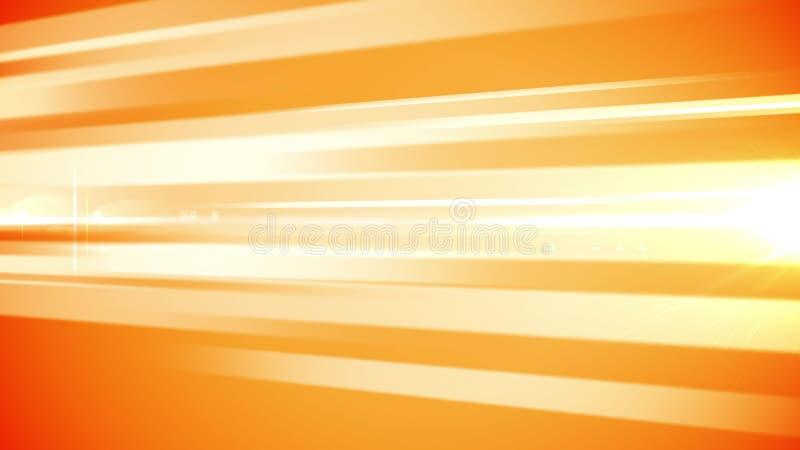 Luz - linhas de barra alaranjadas contexto ilustração stock