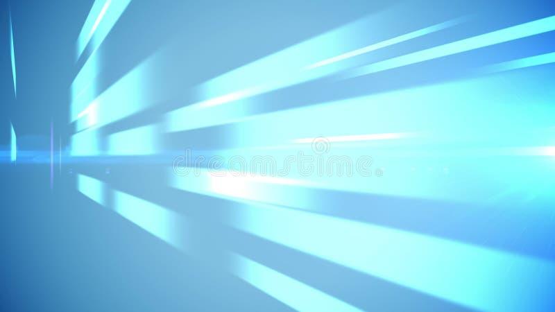 Luz - linhas e sombras azuis de barra ilustração royalty free