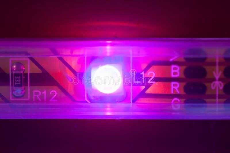 Luz llevada púrpura fotografía de archivo libre de regalías