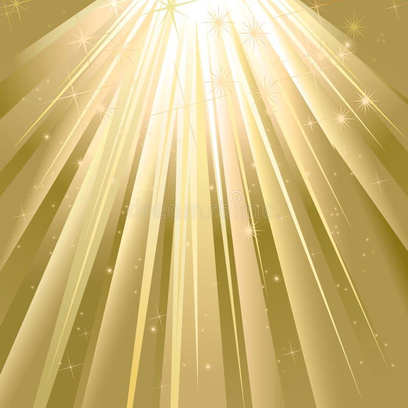 Luz mágica ilustração stock
