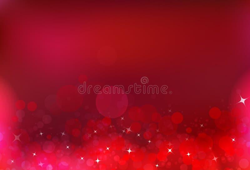 Luz mágica bl brilhante da poeira de estrelas do ar vermelho da bolha da celebração do partido ilustração royalty free