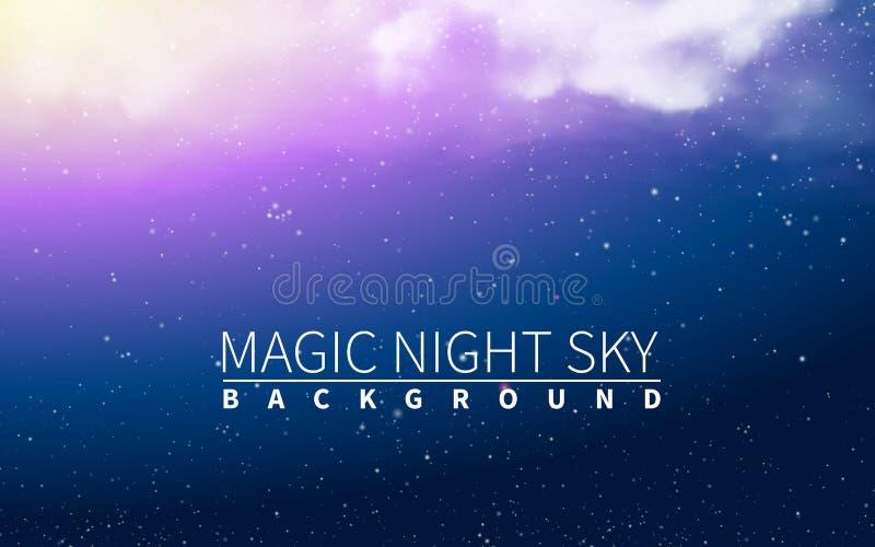 Luz mágica de la nube Estrella de la explosión del azul El día de fiesta estalló elementos realistas del diseño Ilustración del v ilustración del vector