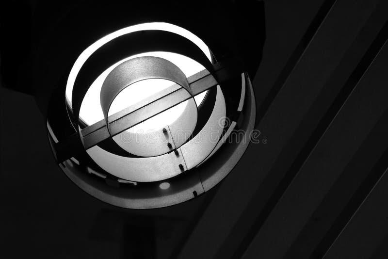 Luz metálica do estágio com copyspace fotos de stock royalty free