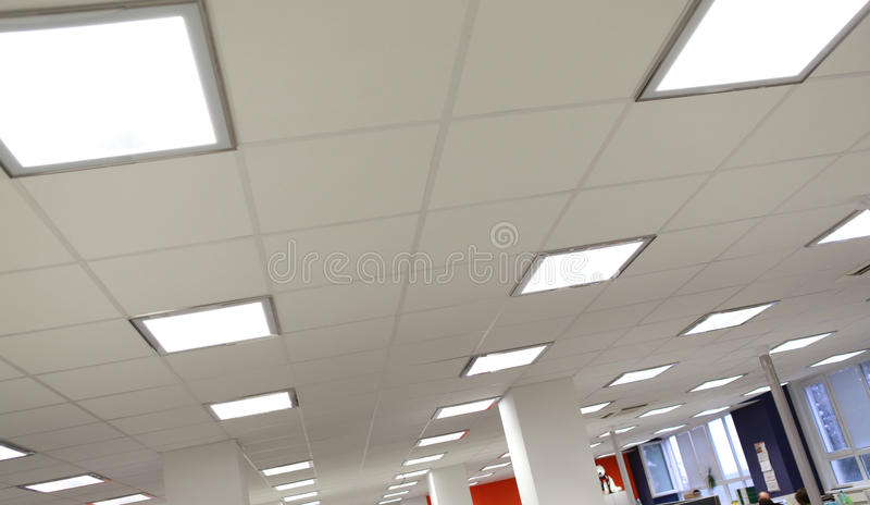 Luz moderna de la oficina foto de archivo
