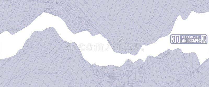 Luz - montanhas roxas em um fundo branco para anunciar ilustração do vetor