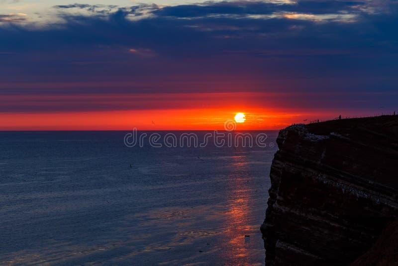 Luz muito última na ilha de Helgoland em agosto fotos de stock royalty free