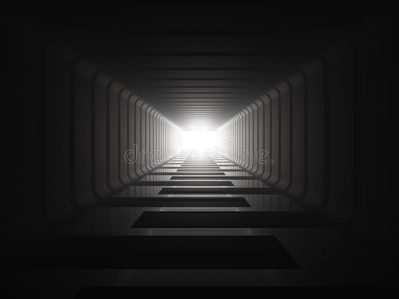 Download Luz Na Extremidade Do Túnel Ilustração Stock - Ilustração de wallpaper, esperança: 16855612