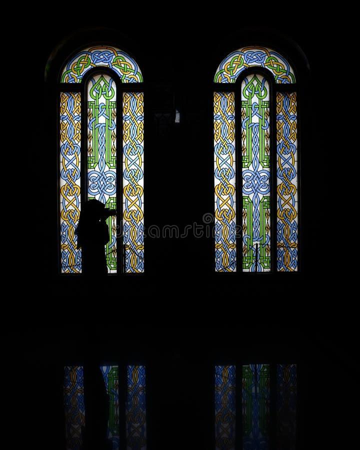 Luz na obscuridade foto de stock