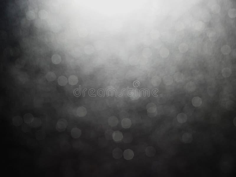 Luz negra del bokeh del extracto del fondo para el día de fiesta de la luz de la noche de la Navidad, fondo abstracto ligero de l imágenes de archivo libres de regalías
