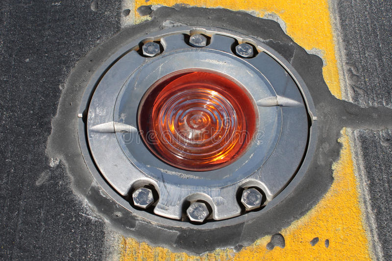 Luz no taxiway fotos de stock