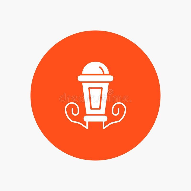 Luz, noche, lámpara, linterna ilustración del vector