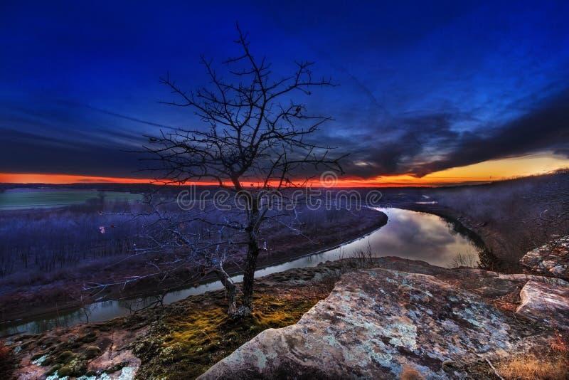 Luz pasada en el río Osage imagen de archivo libre de regalías