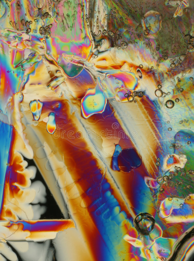 Luz polarizada en el hielo imagenes de archivo