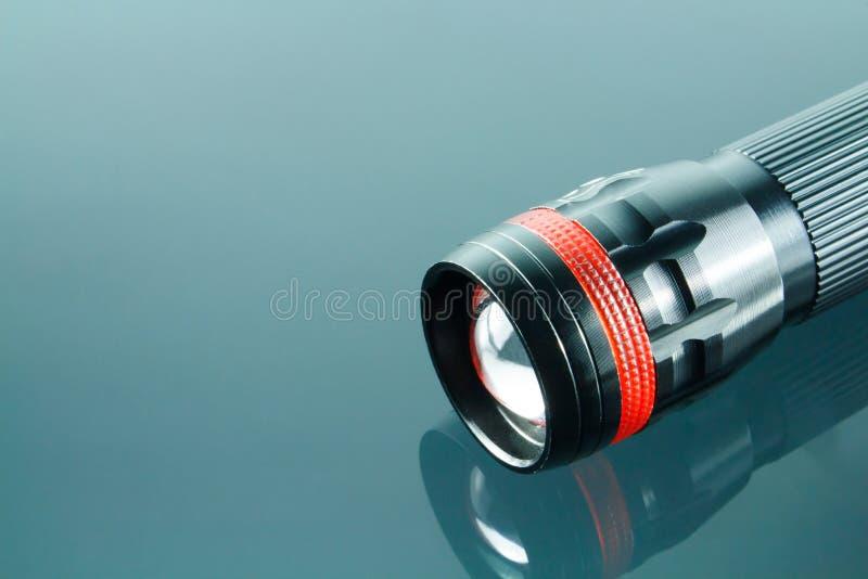Luz preta do diodo emissor de luz da tocha foto de stock royalty free