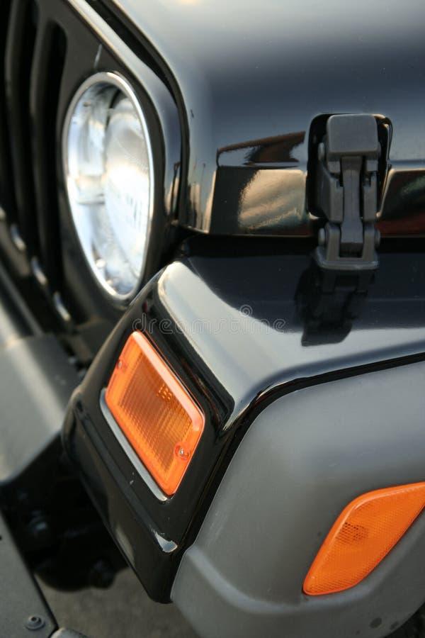 Luz principal del jeep imagen de archivo libre de regalías