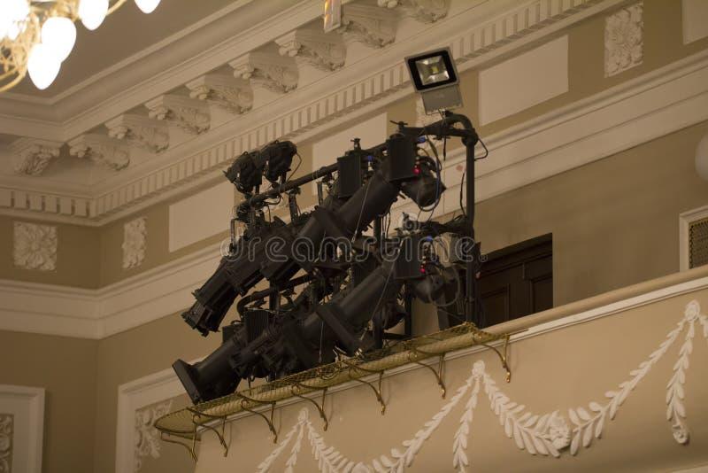 Luz profissional para a fase no teatro imagem de stock royalty free