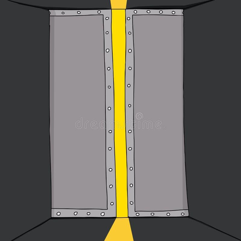 Download Luz Que Brilla Entre Las Puertas Ilustración del Vector - Ilustración de puerta, ilustración: 41915499
