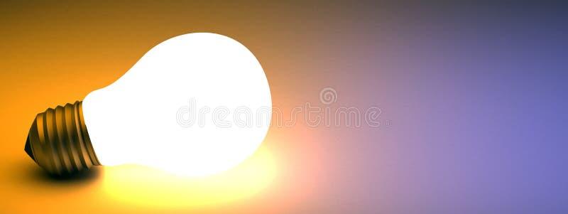 Luz que brilla intensamente ilustración del vector