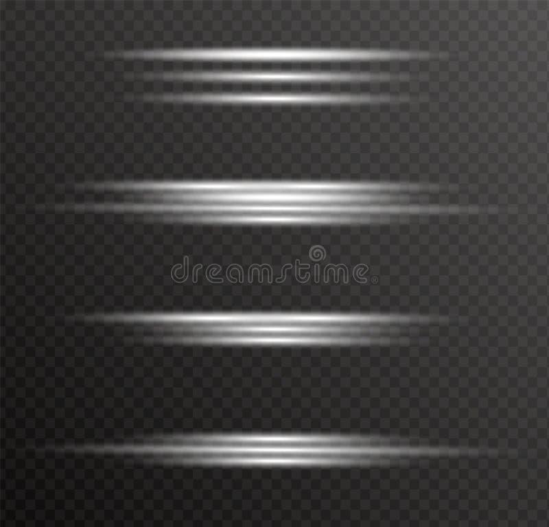 Luz que brilla intensamente blanca ilustración del vector