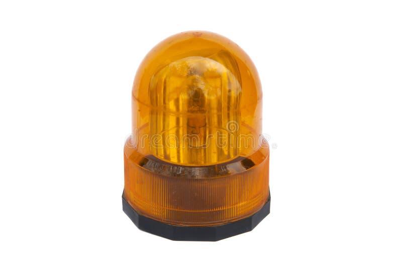 Luz que destella anaranjada fotografía de archivo libre de regalías