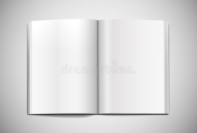 Luz realista de la plantilla de la extensión de la maqueta de la revista libre illustration