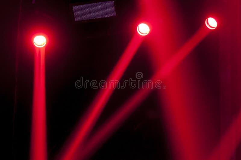 Luz roja para los conciertos fotografía de archivo libre de regalías