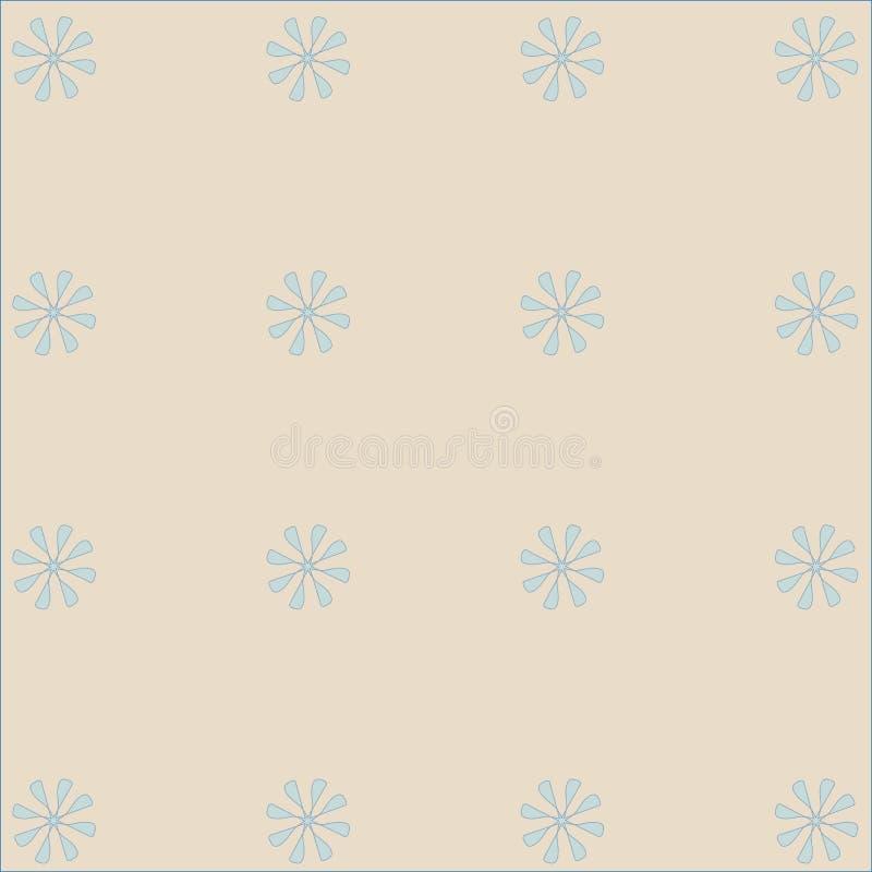 Luz sem emenda - cor-de-rosa, fundo bege com teste padrão floral ilustração stock