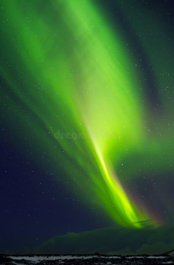 Luz septentrional hermosa fotografía de archivo libre de regalías
