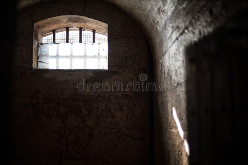 Luz solar do Gaol de Melbourne foto de stock royalty free