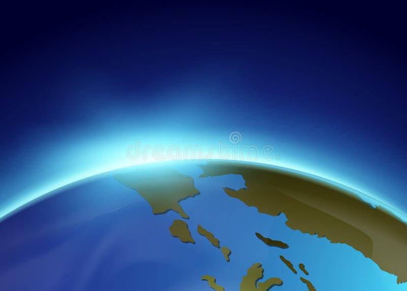 Luz solar que shinning da terra ilustração stock