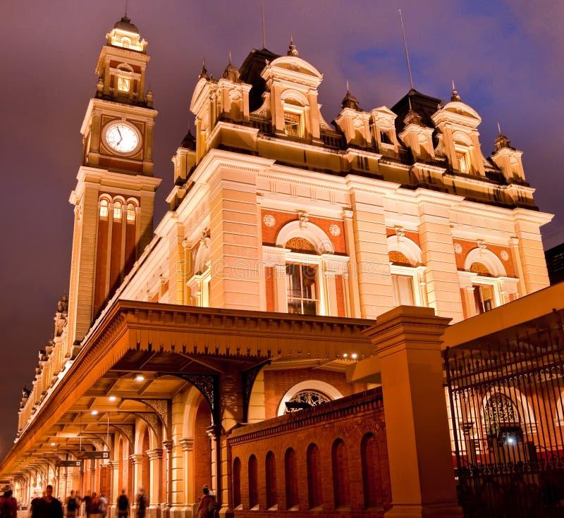 Luz stacja w São Paulo fotografia royalty free