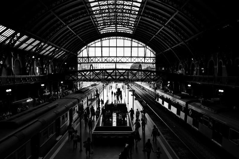 Luz Station São Paulo Brazil fotografía de archivo