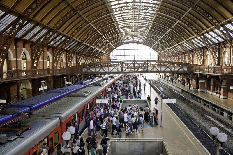 Luz station - São Paulo - Brasilien (följd 1) royaltyfri bild