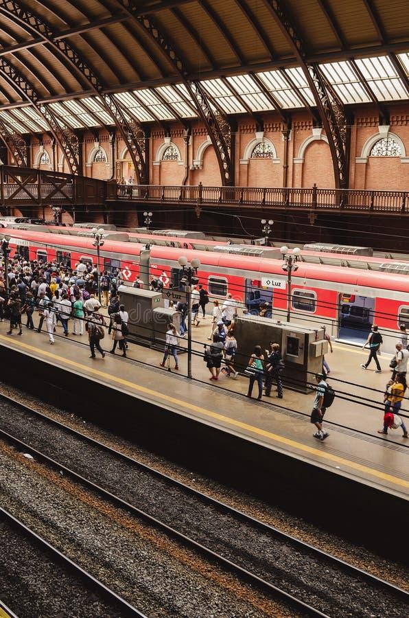Luz Station, SP Brasil de Sao Paulo imagem de stock royalty free