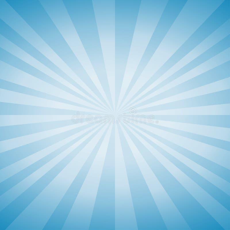 Luz suave abstrata - o azul irradia o fundo Vetor ilustração stock
