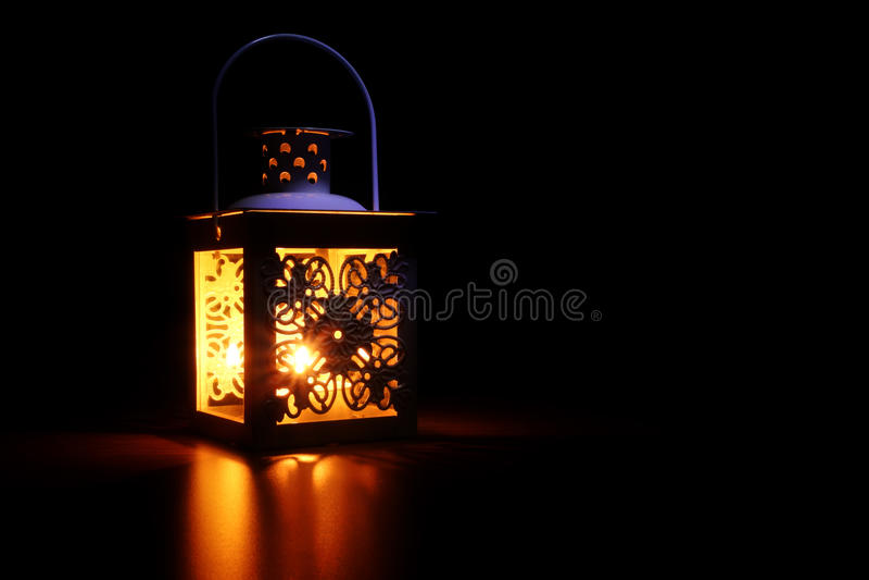 Luz suave da lanterna foto de stock