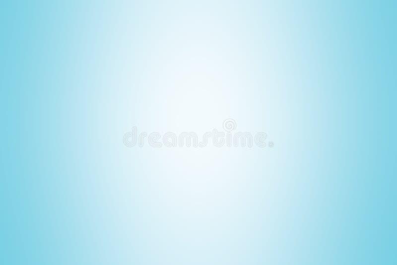 Luz suave de la pendiente del color de fondo azul, papel pintado brillante suave azul hermoso, falta de definición suave de la pe stock de ilustración