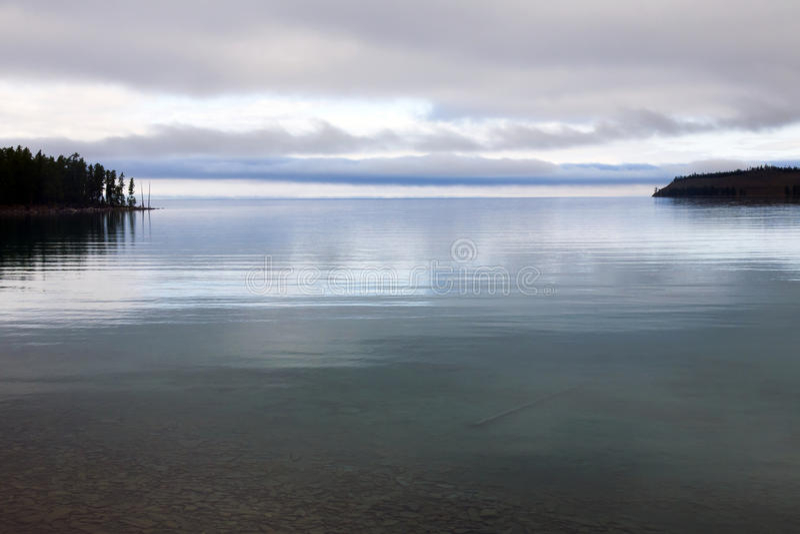 Luz suave del lago foto de archivo libre de regalías