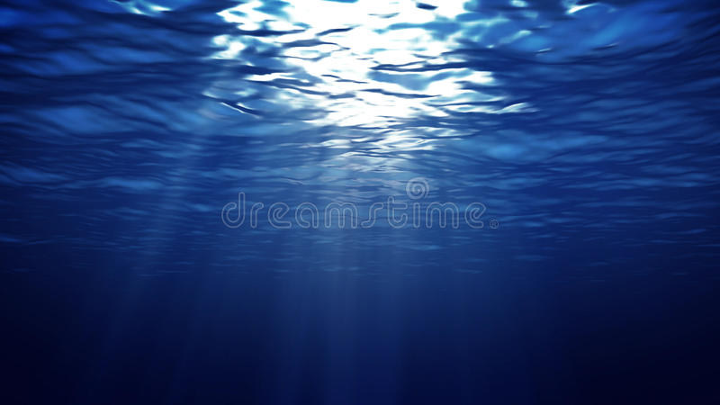 Luz subaquática abstrata ilustração stock