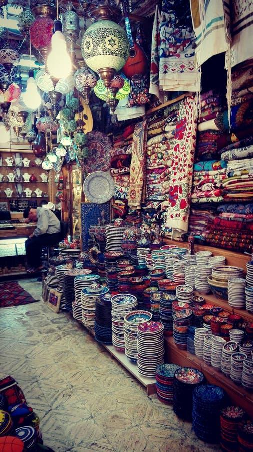luz, tapete, loja cerâmica no mercado de jerusalem fotos de stock