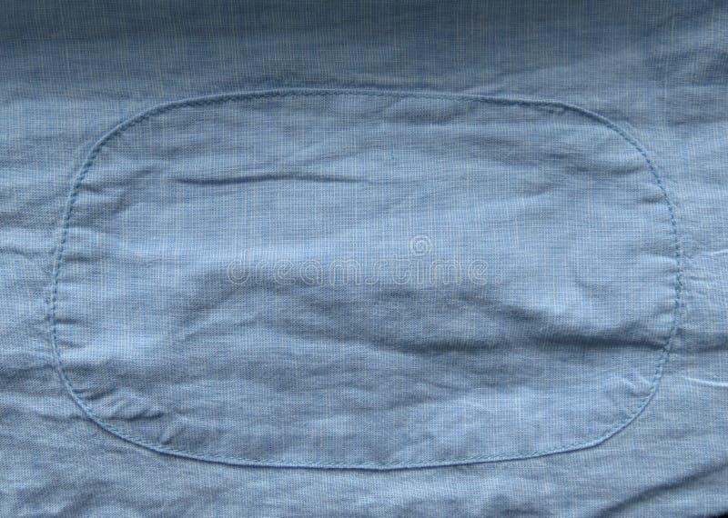 Luz - textura azul da tela com fundo do remendo imagem de stock royalty free