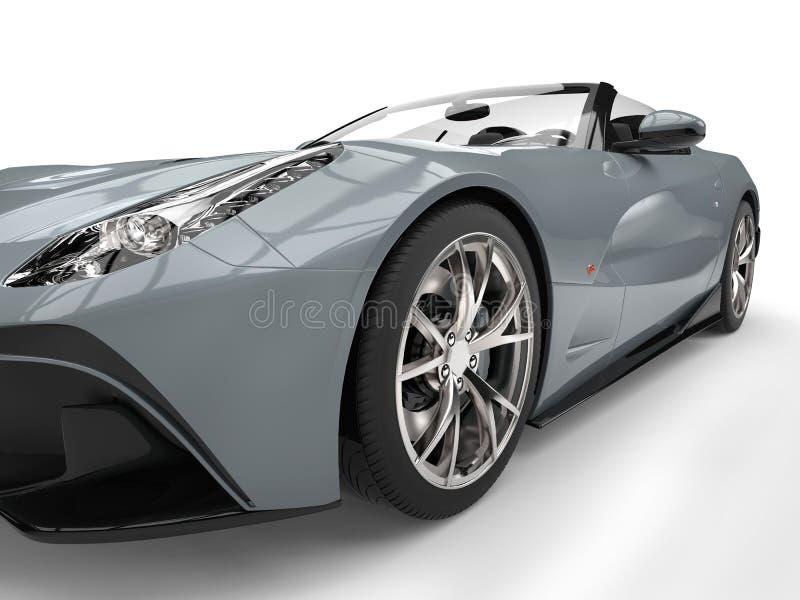 Luz - tiro automobilístico do close up do farol dos esportes super modernos cinzentos ilustração royalty free
