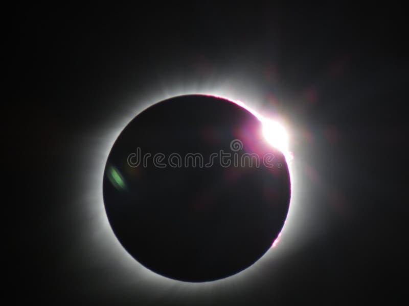 Luz total do eclipse lunar foto de stock royalty free