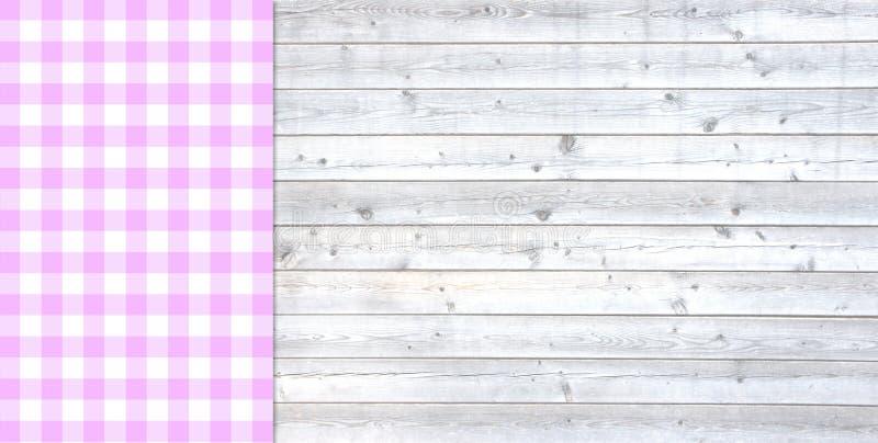 Luz tradicional - prancha cinzenta com toalha de mesa cor-de-rosa ilustração do vetor
